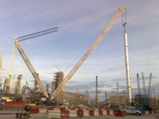 A Terex-Demag CC8800 crane. One similar to this will be used to build the new Vikings stadium.