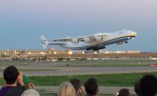 Antonov225 taking off from MSP on July 2, 2014.
