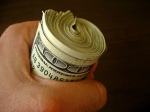 cash money fist benjamins 100 dollar bills green with credit