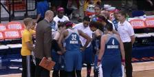 Minnesota Lynx during a time out vs. the Connecticut Sun on July 27, 2104