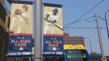 mlb all star game sign target field lrt station green