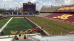 TCF Bank Stadium, half turf, half sod (photo -- Gregg Litman, Twitter)