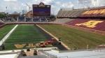 TCF Bank Stadium, half turf, half sod (photo -- Gregg Litman, Twitter)