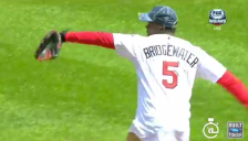 Teddy Bridgewater First Pitch (Screen Shot) 2014-07-23 at 9.32.52 PM