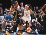 Seimone Augustus of the Minnesota Lynx vs. the Tulsa Shock, Aug. 16, 2014.