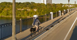 biker on ford parkway bridge