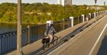 biker on ford parkway bridge