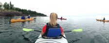 Kayakers on Lake Superior, August 31, 2014