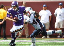 Vikings quarterback Matt Cassel vs. the Patriots on Sept. 14, 2014.
