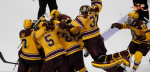 Gopher men's hockey celebration (Twitter Linked) 2014-09-29 at 2.09.49 PM