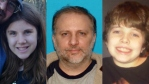 Missing family: Peter Kunze, center, daughter Sean, left and son Joshua, right.