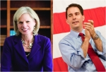 mary burke scott walker collage
