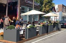 A parklet in the city of Minneapolis.
