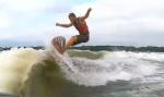 Wake surfer Trevor Grindland