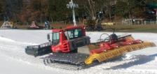 snow grooming machine at wild mountain