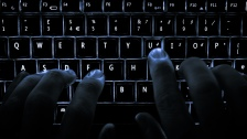 backlit keyboard hacker cyber security