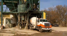 cement truck loading