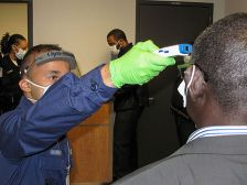 Ebola screening at JFK airport in New York, Oct. 18, 2014