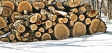 firewood stacked in snow from flickr