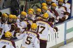 Gopher men's hockey team defeats RPI 3-0 to win the Ice Breaker Tournament, Oct. 12, 2014.