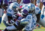 Lions gang tackle McKinnon (Vikings.com) SAFE with credit