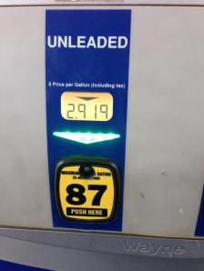 Price at Duluth gas pump