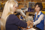 cashier free us navy public domain http://commons.wikimedia.org/wiki/File:US_Navy_030620-N-7391W-007_Cashier_Sue_Amine_assists_a_customer_at_the_Pearl_Harbor_Commissary,_run_by_Defense_Commissary_Agency's_(DeCA),_in_the_new_Pearl_Harbor_mall_complex,_which_opened_earlier_this_year.jpg
