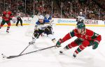 Mikko Koivu vs. St.Louis Blues, Oct. 4, 2014.