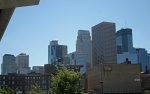 minneapolis warehouse district skyline green