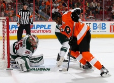 Darcy Kuemper makes 37 saves to ground Flyers attack.