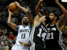 Shorthanded Wolves have no chance against sharp Spurs.