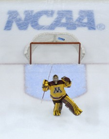 Gophers goalie Adam Wilcox