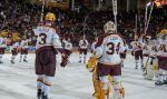Gopher men's hockey team vs. Notre Dame Nov 9, 2014.