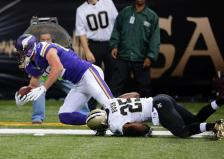 Kyle Rudolph Saints (Vikings.com) SAFE with credit