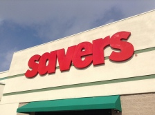 savers thrift store front sign