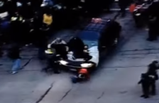 Woman hit by car Ferguson protest