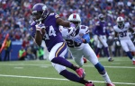 Vikings wide receiver Cordarrelle Patterson played on three offensive snaps in Vikings 31-13 victory over Carolina.