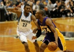 Wolves rookie Andrew Wiggins and Kobe Bryant
