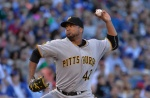 Pirates starting pitcher Francisco Liriano