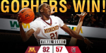 Gophers beat Seattle (Gophers MBB Twitter Linked 2014-12-19 at 9.15.15 PM