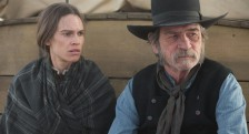 Hilary Swank and Tommy Lee Jones in 'The Homesman' (photo -- Roadside Attractions)