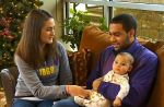 Isaac Kolstad, his wife Molly and daughter Malia, on Dec. 16, 2014.