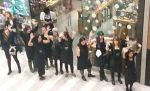 "Workers at the Lush Cosmetics store in the Mall of America stand in solidarity with ""Black Lives Matter"" protesters on Saturday Dec. 20, 2014"