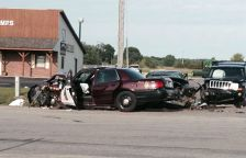 Fatal accident in Cannon Falls on July 4, 2014 involving a state trooper.