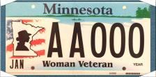 women veterans license plate