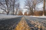 A slushy road.