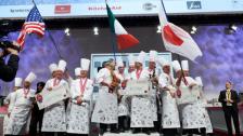 Podium at pastry Olympics