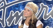 Cindy Jo Scholer of North Branch, Minn., competing on American Idol.