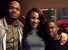 Adrian Peterson and Kevin Hart
