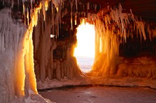 Apostle Island ice caves 2014